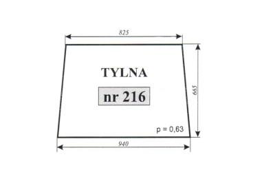 SZYBA TYLNA T25 216