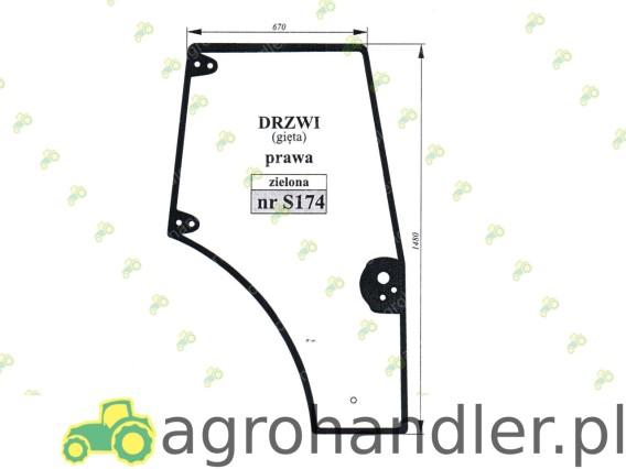 SZYBA DRZWI PRAWE NEW HOLLAND CASE 87620223