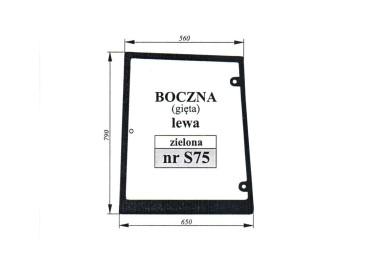 SZYBA BOCZNA LEWA CASE MXM 82029321 82009813