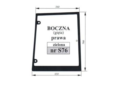 SZYBA BOCZNA PRAWA CASE FORD FIAT MX 82029320