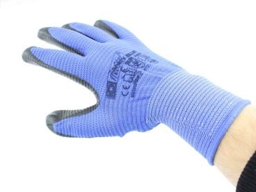 RĘKAWICE pokryte nitrylem FANCY BLUE 10 5902841700062
