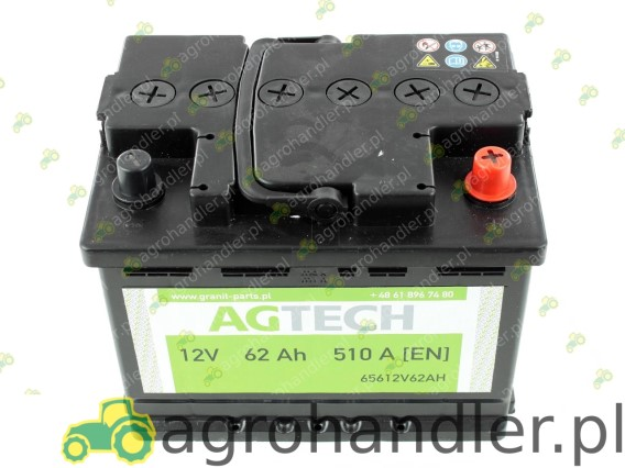 AKUMULATOR 12V 62AH AGTECH 12V62AH