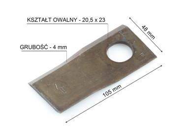 NÓŻ KOSIARKI TAARUP/KVERNELAND LEWY KT5514200001