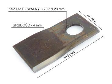 NÓŻ KOSIARKI TAARUP/KVERNELAND PRAWY KT5514100001