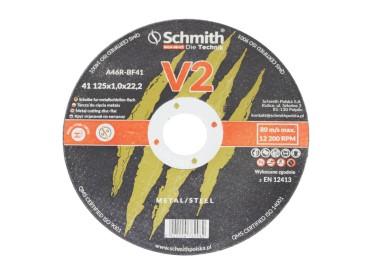 ŚCIERNICA DO METALU 125x1,0 V2 S41A-08-V2