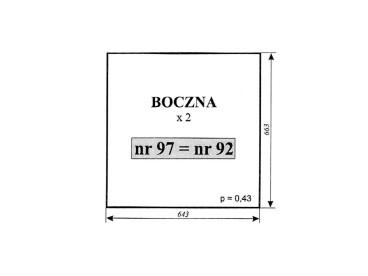 SZYBA BOCZNA C-330 CHOJNÓW 92