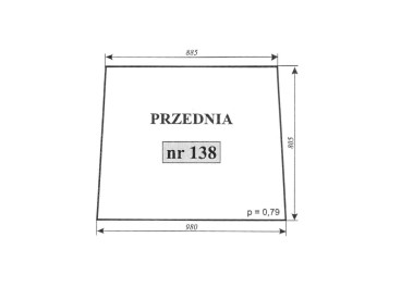 SZYBA PRZEDNIA C-355 CZESKA 138