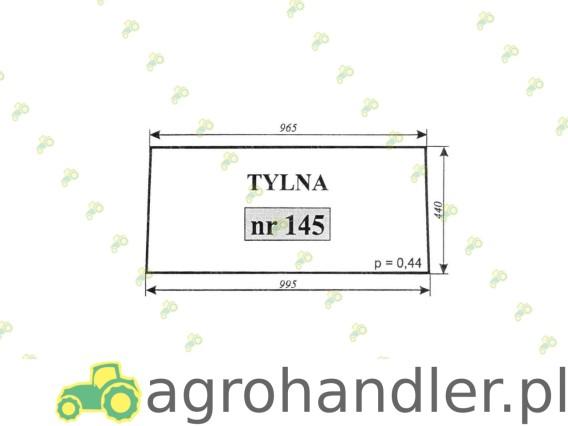 SZYBA TYLNA C-360M 145