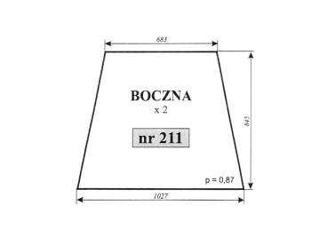 SZYBA BOCZNA C-362 211
