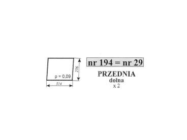 SZYBA C-385 1604/1201/1204 29