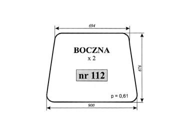 SZYBA BOCZNA MF-255 LUBSKO 112