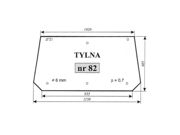 SZYBA TYLNA MF-255 82