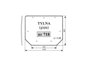 SZYBA PRONAR 320A TYLNA NR 718
