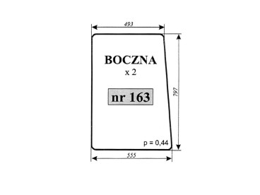 SZYBA BOCZNA T25A 163