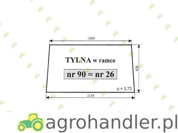 SZYBA TYLNA C-385 1604/1201/1204 26