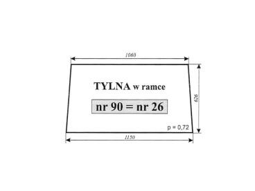 SZYBA TYLNA C-385 1604/1201/1204 2690