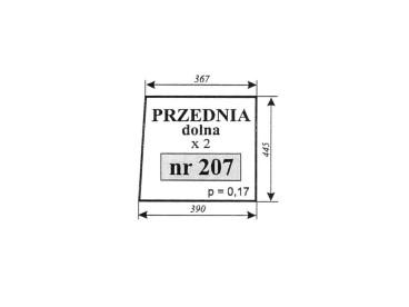 SZYBA ZETOR 5011,5211 PRZEDNIA DOLNA 207