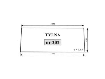 SZYBA ZETOR 5011,5211 TYLNA NR 202