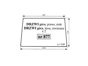 SZYBA MASSEY FERGUSON DRZWI GÓRA 877