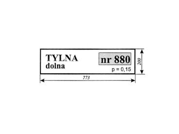 SZYBA MASSEY FERGUSON TYLNA DOLNA. 880,