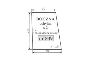 SZYBA BOCZNA RENAULT ZIELONA 839 7700016530