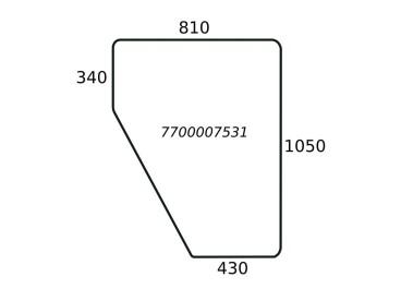 SZYBA DRZWI RENAULT KABINA RS 7700007531