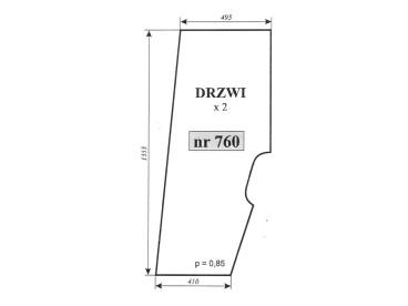 SZYBA DRZWI PRAWE/LEWE SAME EXPLORER 760/ 092312120
