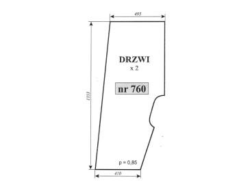 SZYBA DRZWI PRAWE/LEWE SAME EXPLORER 760