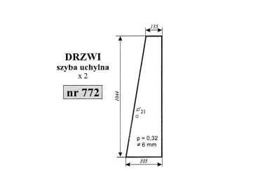 SZYBA DRZWI UCHYLNA MASSEY FERGUSON 3690 772 3389399M2