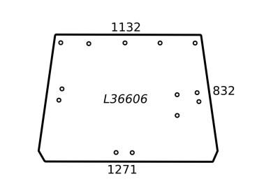 SZYBA ZIELONA L 36606 JOHN DEERE L36606