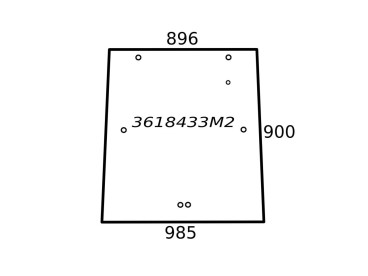 SZYBA MASSEY FERGUSON TYLNA (RAMKA) 3618433M2