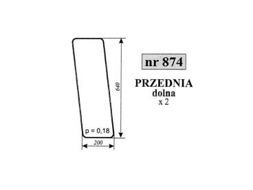 SZYBA PRZEDNIA DOLNA MASSEY FERGUSON 874