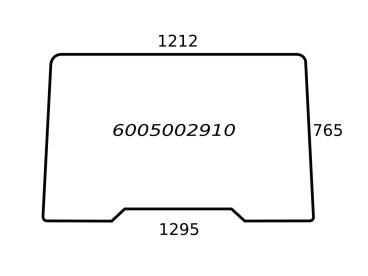 SZYBA PRZEDNIA RENAULT 6005002910 650886036