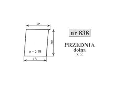 SZYBA PRZEDNIA DOLNA RENAULT 838 7700016585