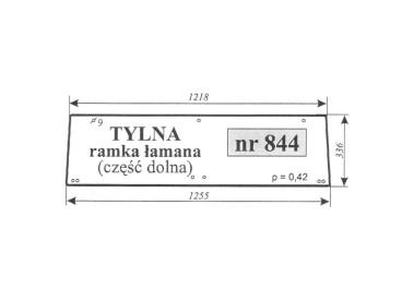 SZYBA RENAULT TYLNA DOLNA NR 844