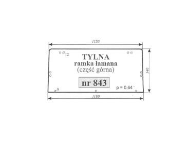 SZYBA TYLNA RENAULT 843 04419379
