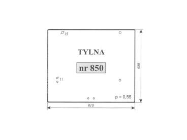 SZYBA TYLNA RENAULT 850, 7701350717