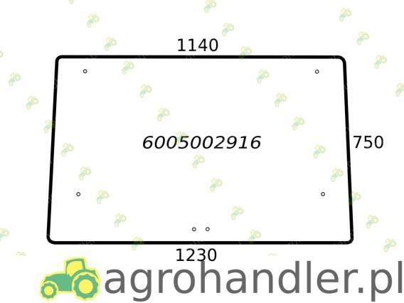 SZYBA TYLNA PODNOSZONA RENAULT 6005002916