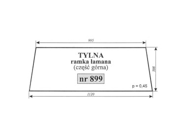 SZYBA TYLNA GÓRNA SAME JAGUAR TIGER 899