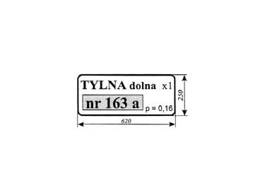 SZYBA TYLNA DOLNA T25 163A