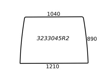 SZYBA PRZEDNIA CASE 3233045R2 650S33045R1
