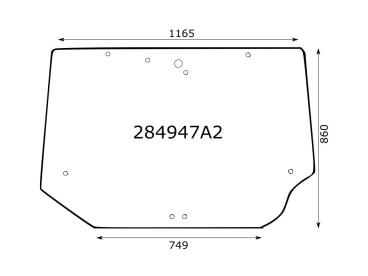 SZYBA TYLNA CASE McCORMICK MX MTX MC 284947A2 650S4947A2