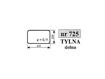 SZYBA TYLNA DOLNA MTZ/PRONAR 725
