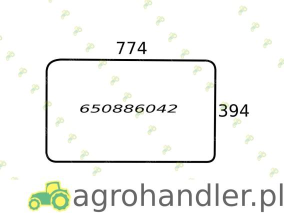 SZYBA TYLNA DOLNA RENAULT 650886042 6005002917 RT6005002917