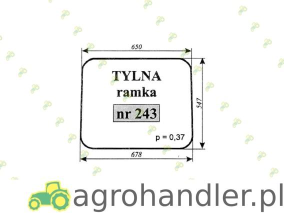 SZYBA TYLNA MASSEY FERGUSON 255 243