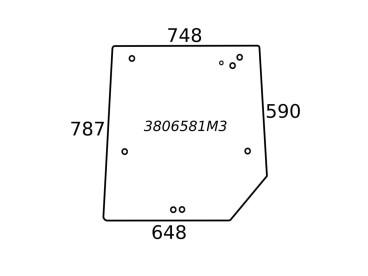 SZYBA TYLNA MASSEY FERGUSON SERIA 4200 3806581M3