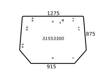 SZYBA TYLNA VALTRA VALMET 31553300 V31553300 V36841200