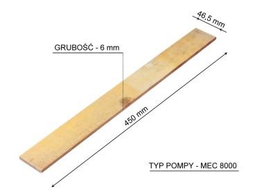PŁYTKA POMPY MEC8000 450x46,5x6,3 mm 4050990137 4050990137